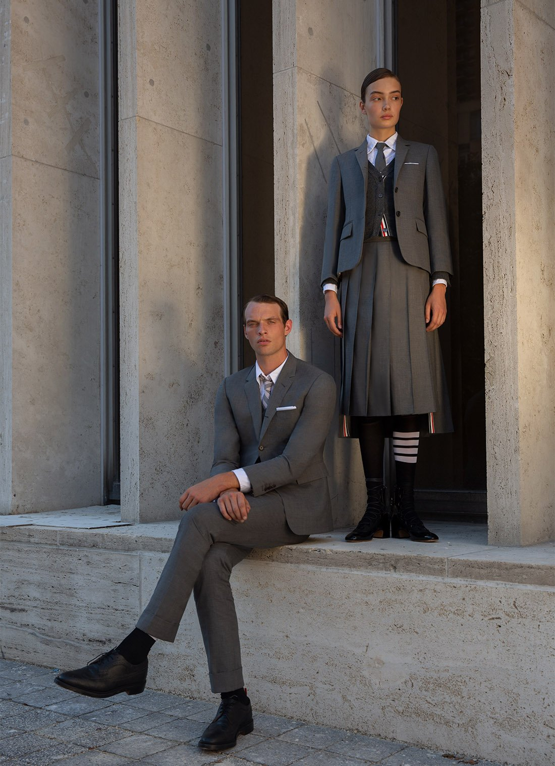 Discover Thom Browne Fall 2020 Ghillies Footwear