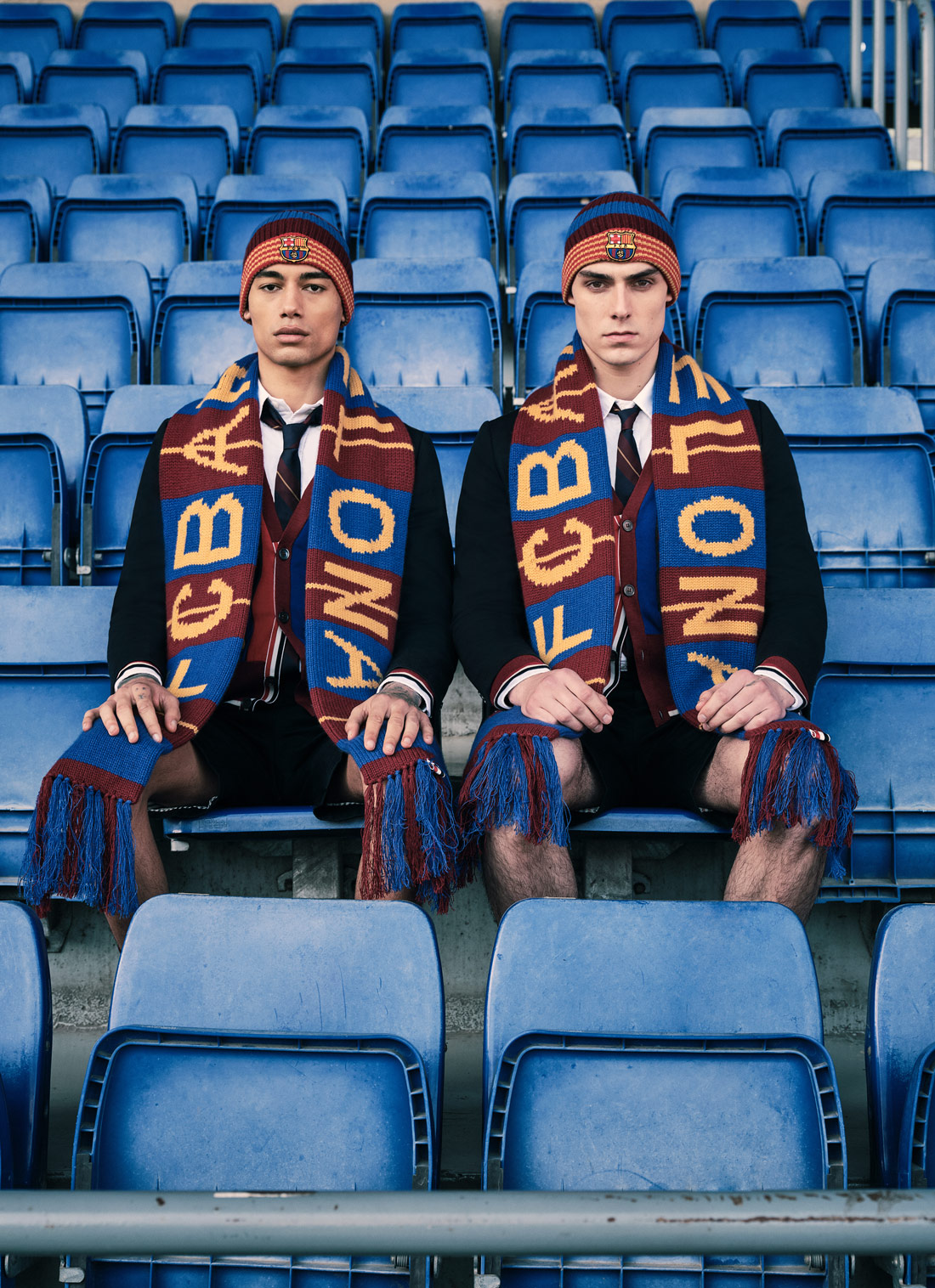 thom browne x fc barcelona barça foundation capsule collection